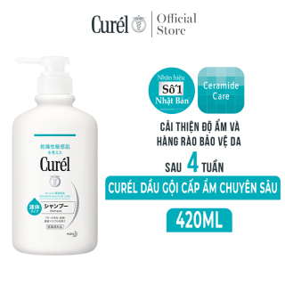 (Mua 2 giảm thêm 10%) Dầu Gội Cấp Ẩm Chuyên Sâu Curel Intensive Moisture Care Shampoo 420ml thumbnail