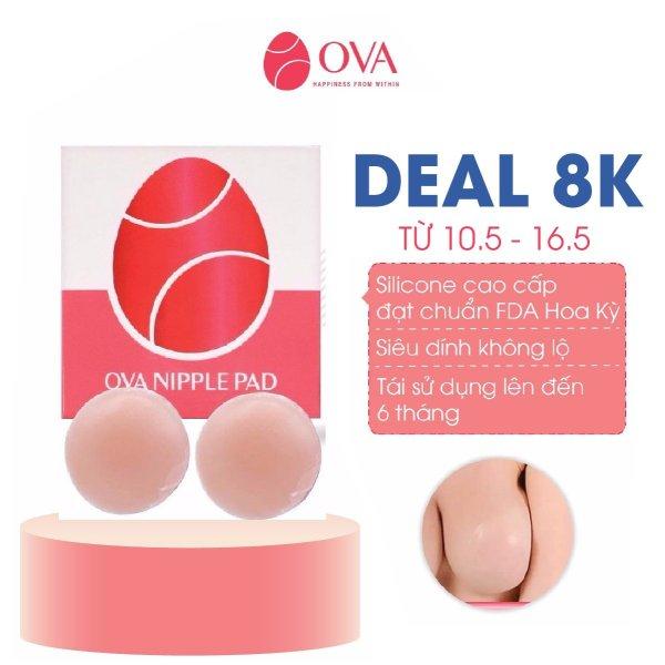 Miếng dán ngực silicon OvaPink Nipple Pad cao cấp  siêu dính, thật như da tự nhiên,che đầu ti, nhũ hoa, tái sử dụng 6 tháng
