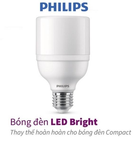 Bóng đèn PHILIPS LED Bright E27-ánh sáng vàng, ánh sáng trắng