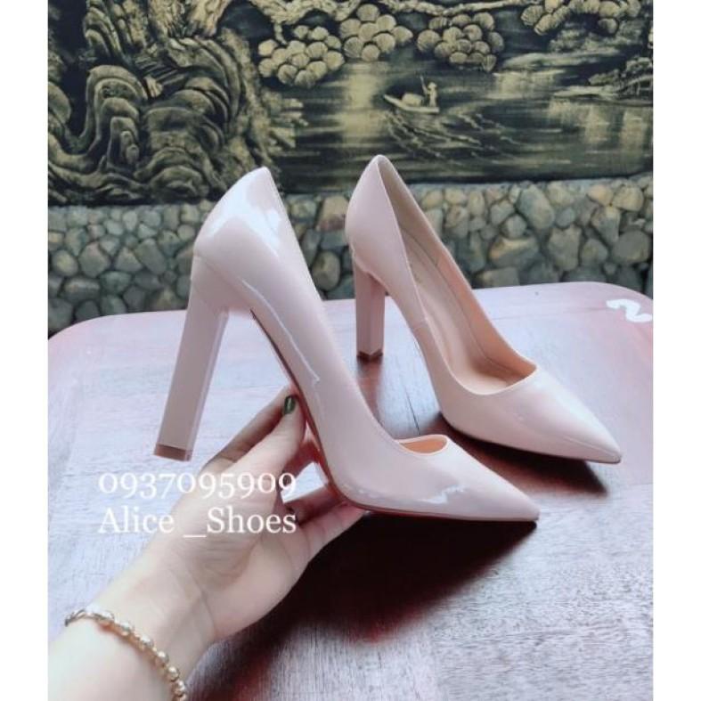 ( Hình Thật ) Giày Cao Gót Vuông 10P - VNXK Cao Cấp - Full Size 34-40 giá rẻ