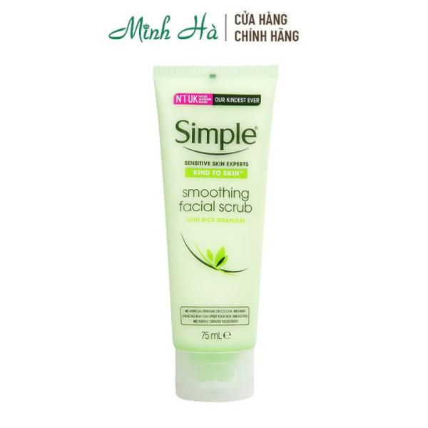 Tẩy tế bào chết dành cho da nhạy cảm Simple Kind To Skin Soothing Facial Scrub 75ml cao cấp