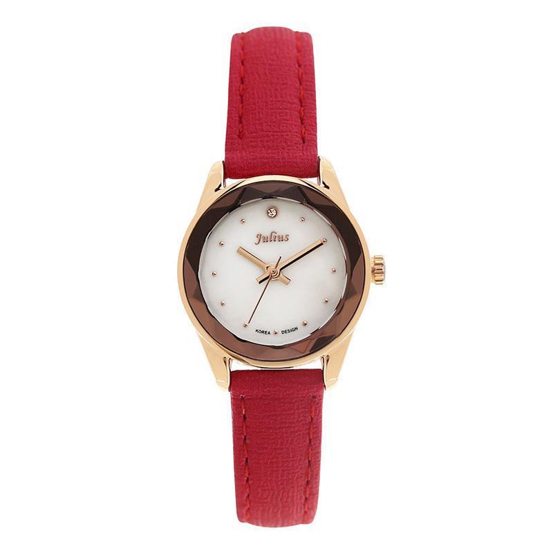Sale off đồng hồ nữ Julius Hàn Quốc JA-723 lăng kính 3D lấp lánh dây da