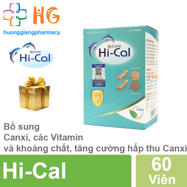 HI-CAL Avisure Canxi Nano tự nhiên cho mẹ bầu (Hộp 60 Viên)
