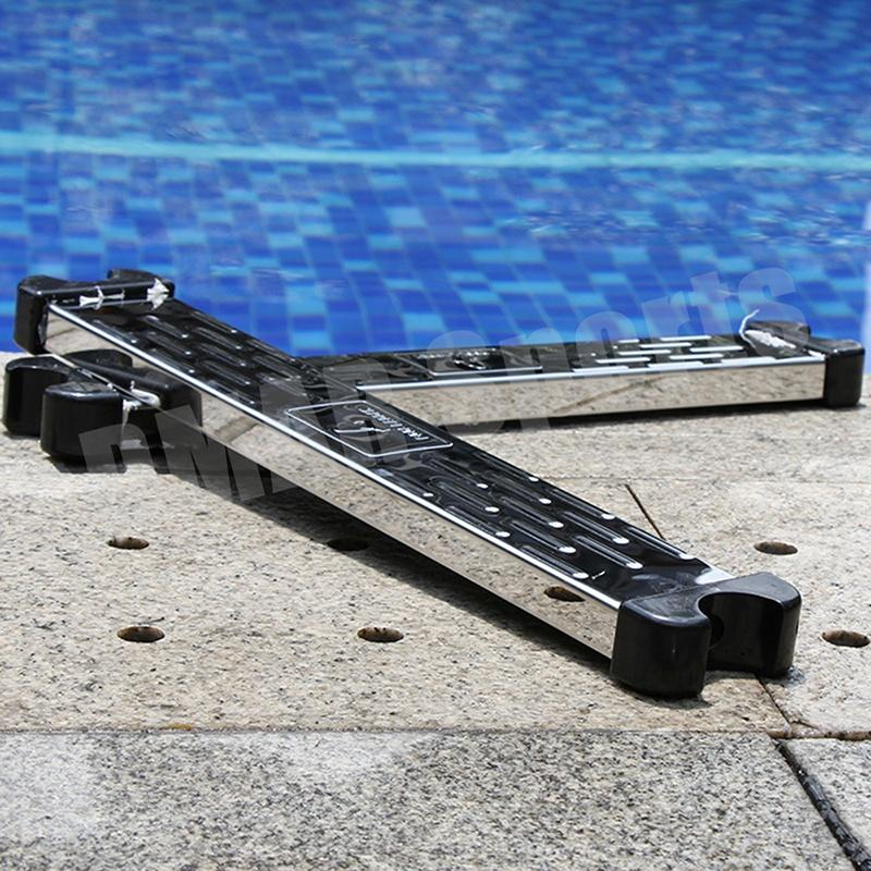 Swimming Pool Pedal Ladder Accessories Tools Durable Stainless Steel Equipment Water Sports With Screws Rung Steps Fittings