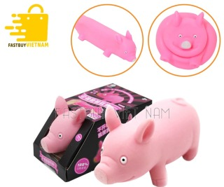 Heo xả stress , heo hồng cảm xúc , heo hồng silicon , lợn đồ chơi co dãn , heo tiktok món quà tuyệt vời để bạn gái trút bầu tâm sự. thumbnail