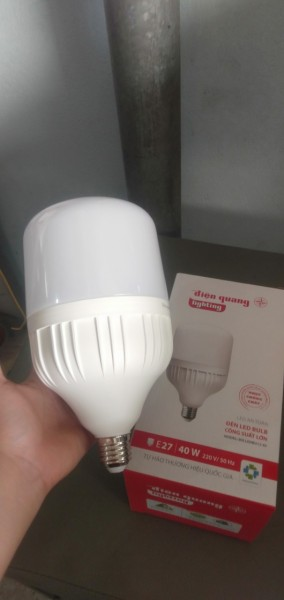 Bóng đèn led siêu sáng điện quang  cao cấp công suất lớn 50w,40w. siêu tiết kiệm điện chống cháy nổ hàng chính hãng