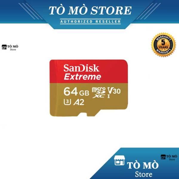 Thẻ nhớ MicroSDXC SanDisk Extreme 64GB A2 ~ 160MB/s - Bảo hành 5 năm
