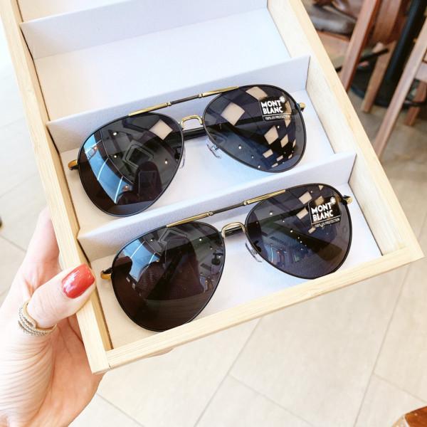 Mua [HCM]Mắt kính thời trang nam nữ cao cấp A2034. Kính râm Hàn Quốc Unisex tròng phân cực chống chói bảo vệ mắt dưới trời nắng