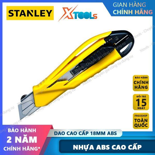 Dao rọc giấy cao cấp 18mm ABS STANLEY STHT10269-8 thân được làm bằng nhựa ABS cao cấp. Dao rọc lưỡi được gia công từ hợp kim cao cấp, khoá trượt tự động dễ sử dụng [XTOOLs] [XSAFE]