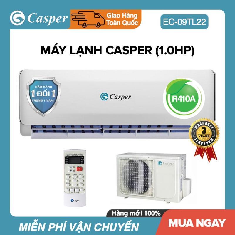 Máy Lạnh Casper 1HP - Model EC-09TL22 (Trắng) Đổi mới 1 năm - Bảo Hành 3 Năm