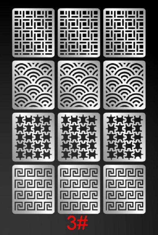 Giấy dán lưới hollow sticker tạo kiểu cho móng (24 kiểu tùy chọn)