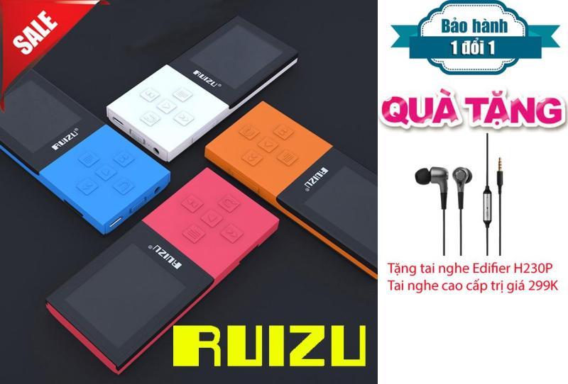 Máy Nghe Nhạc MP3/MP4 Bluetooth Lossless Ruizu X18 8GB + Tai nghe kiểm âm cao cấp Edifier H230P