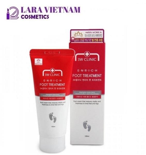 Kem Ngăn Ngừa Nứt Gót Chân 3W Clinic Enrich Foot Treatment 100g cao cấp