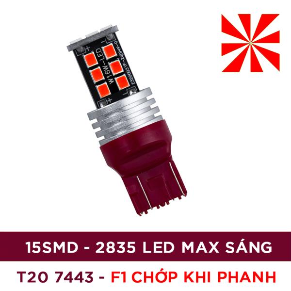 01 bóng đèn phanh, đèn lùi, đèn xi nhan ô tô T20 7443 7440 LED 2835 siêu sáng