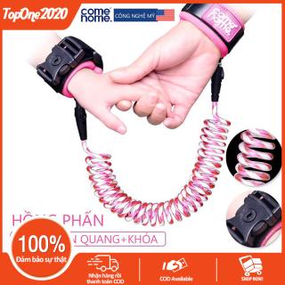 Dây dắt em bé chống lạc dây buộc cổ tay dây an toàn đi dạo dây chống lạc có phản quang, chốt khóa, dài 1.5m, hai màu xanh lam và hồng phấn TopOne2020 thumbnail