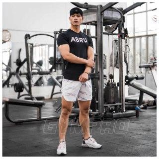Áo tập gym nam ASRV cộc tay thun lạnh co giãn 4 chiều,áo gym nam siêu mát thumbnail