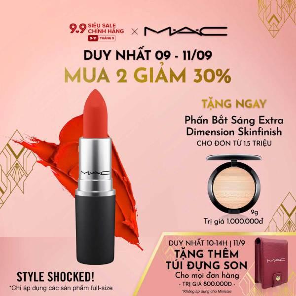 [9.9-11.9  MUA 2 GIẢM 30%] Son môi MAC Powder Kiss Lipstick - Moisture Matte Lipstick 3g cao cấp