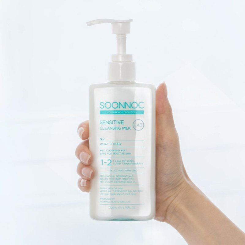 Sữa Tẩy Trang Cho Da Nhạy Cảm Soonnoc Sensitive Cleansing Milk