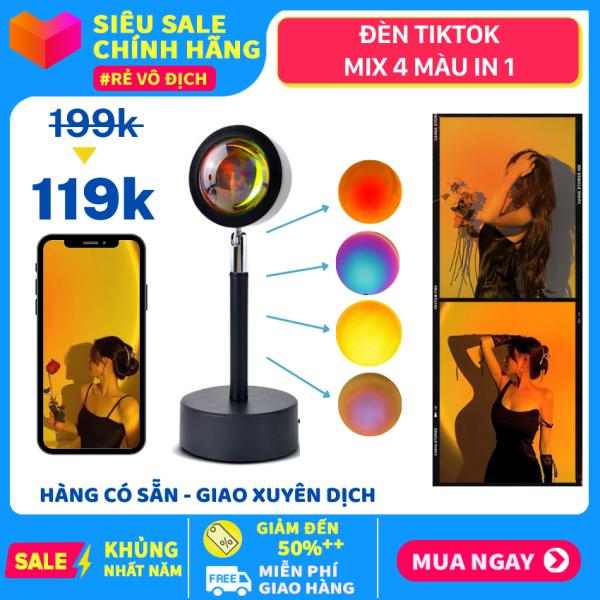 Đèn Hoàng Hôn - Đèn Ngủ SUNSET Sống Ảo, Đèn Led TIKTOK 4 màu in1 Hoàng Hôn, Cầu Vồng Làm Đèn Ngủ, Trang Trí Phòng, Chụp Hình Quay Video Background siêu đẹp