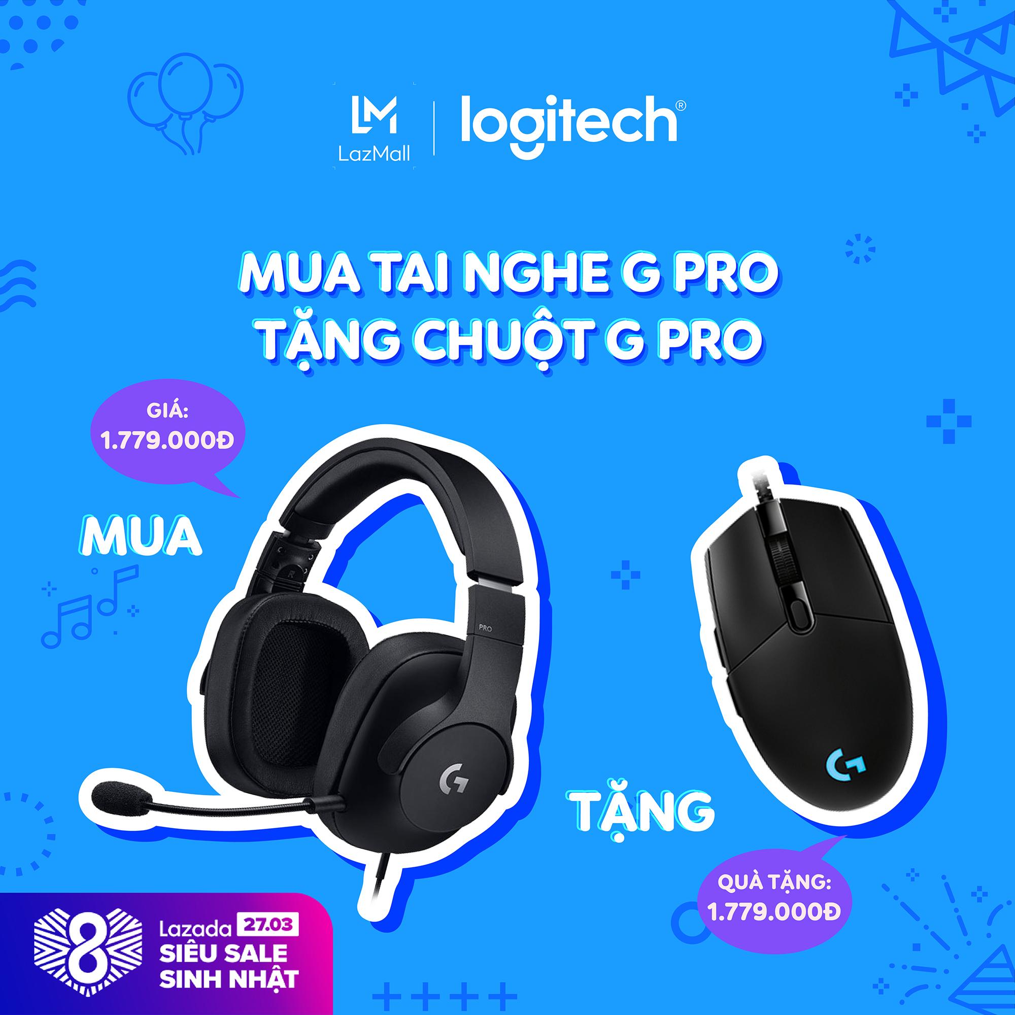 Giá Tai nghe gaming Logitech G PRO với micro đẳng cấp Pro dành cho PC, PC VR, Mac, Xbox One, Playstation 4, Nintendo Switch