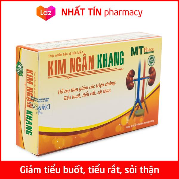 Viên uống Kim Ngân Khang giảm sỏi thận, sỏi mật, sỏi bàng quang, giảm tiểu buốt, tiểu rắt, bí tiểu - Hộp 30 viên cao cấp