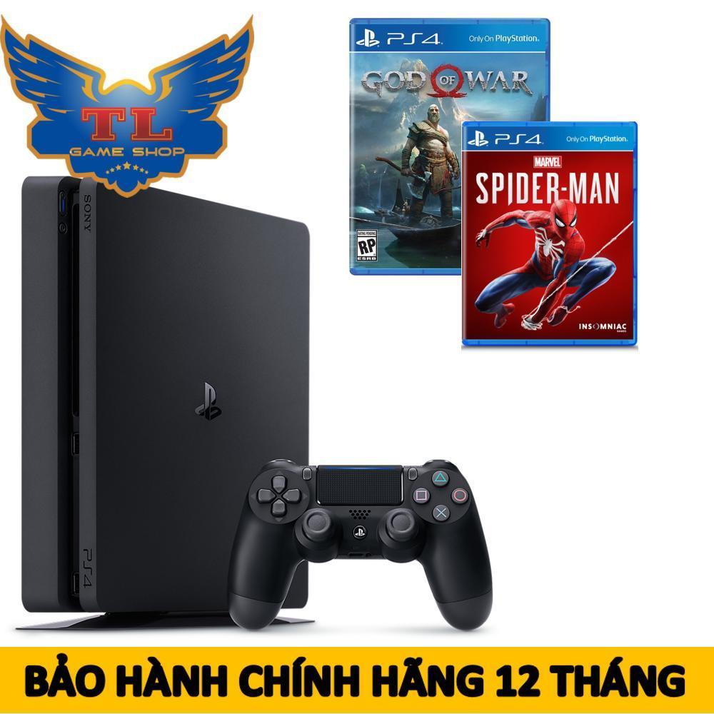 [TRẢ GÓP 0%] Máy Chơi Game Playstation PS4 slim 1Tb + Kèm 2 Game Spiderman & God Of War - Hãng Phân Phối Chính Thức