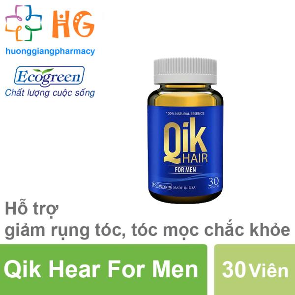 QIK HAIR FOR MEN - Cải thiện tình trạng rụng tóc cho cả nam và nữ, Ngăn ngừa tình trạng rụng tóc, hói đầu (Lọ 30 viên) giá rẻ