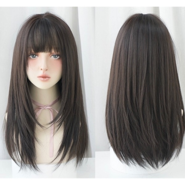 Tóc giả nguyên đầu❤️FREESHIP❤️ Tóc giả cả đầu layer mềm mượt như tóc nhập khẩu