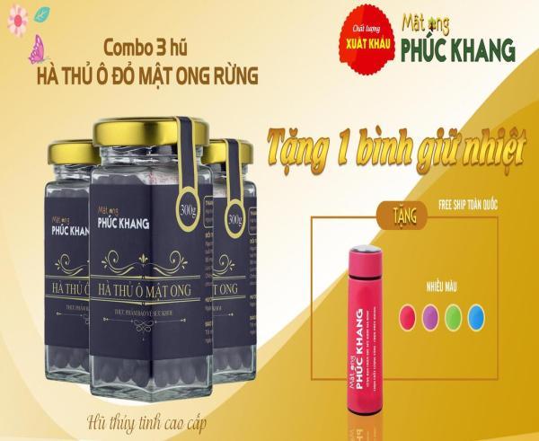 [ Hot sale ] Combo 3 hũ Hà thủ ô đỏ  mật ong rừng Phúc Khang ]  Giảm rụng tóc , Tóc bạc sớm , bổ thận ...] giá rẻ