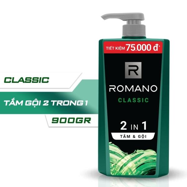 [HCM]Tắm gội 2 trong 1 Romano Classic 900g nhập khẩu