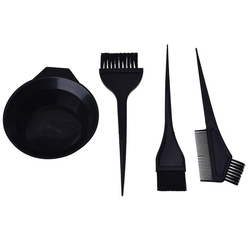 Bộ dụng cụ 1 chén 3 lược hỗ trợ tự nhuộm tóc nhập khẩu