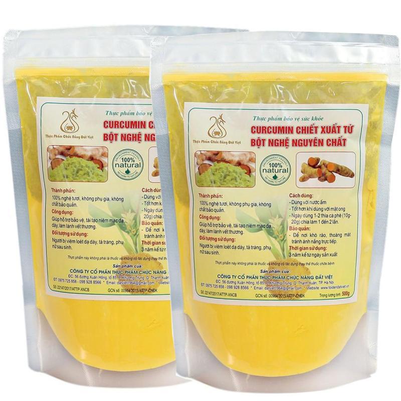 Comno 2 túi Curcumin chiết xuất từ tinh bột nghệ (500gr/túi) cao cấp