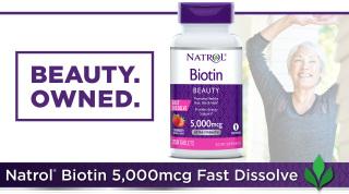 Viên ngậm kích mọc, giảm rụng tóc Natrol Biotin 250 viên vị dâu của USA thumbnail