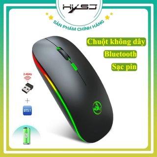 Chuột không dây bluetooth HXSJ T18, Thiết kế không ồn, Kết nối không dây 10m, Sạc pin lần dùng được 1-2 tháng, Tương thích đa nền tảng PC Windows, Mac, Chrome, với đầu thu USB nhỏ gọn-HÀNG CHÍNH HÃNG BẢO HÀNH 12 THÁNG thumbnail