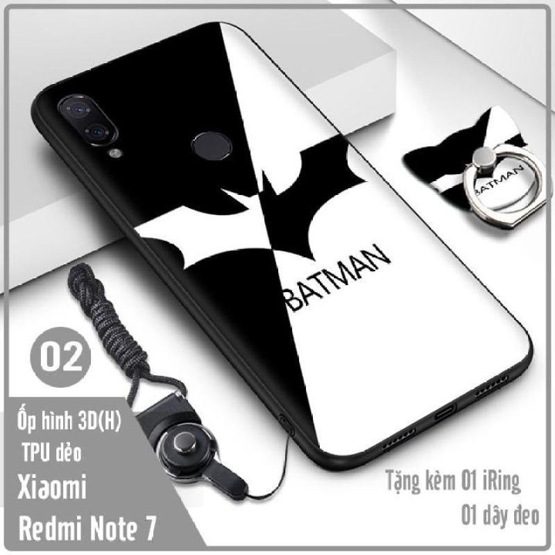 Giá (7 mẫu) Ốp lưng cho Xiaomi Redmi Note 7 Hình 3D (H) kèm iRing + dây đeo - Nhựa TPU dẻo