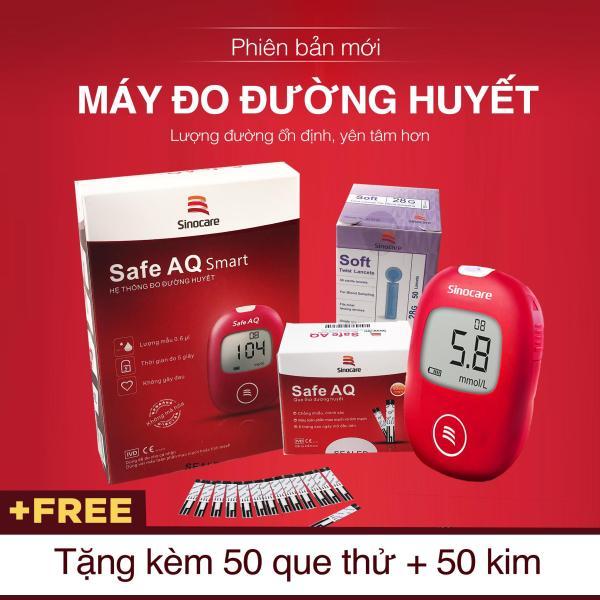 WeCare Máy Đo Đường Huyết Safe AQ Smart   (Tặng kèm 50 Que thử Và 50 Kim) bán chạy