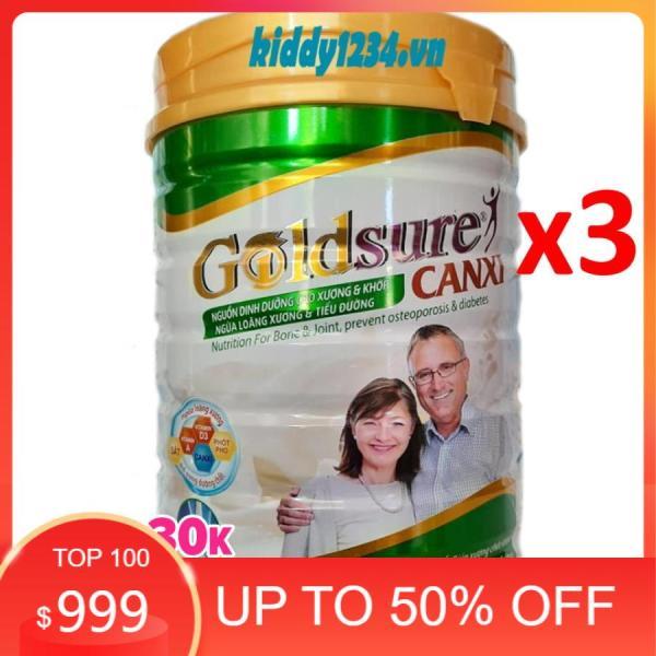 [sale]Combo 3 lon sữa Goldsure canxi ngừa loãng xương 900g dành cho người già giá rẻ