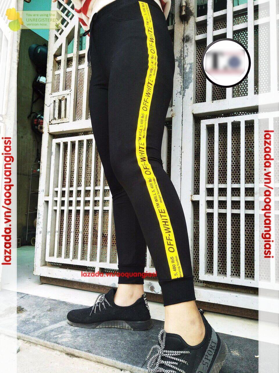 Quần Jogger Chữ Hông thời trang mt288 viền vàng