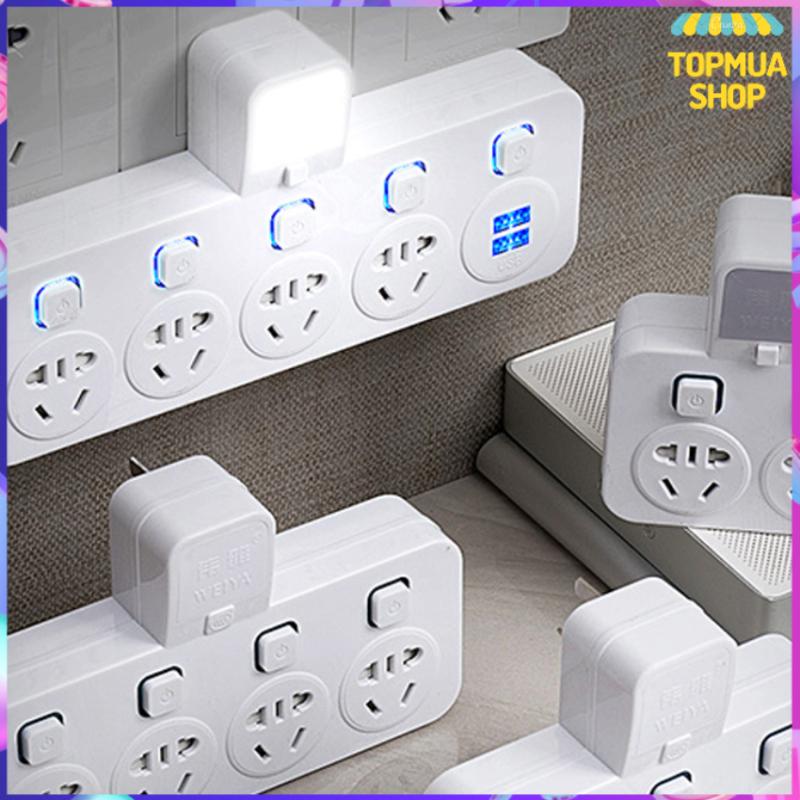 Ổ cắm điện đa năng, thông minh Bộ chia ổ cắm điện và sạc đa năng có nút nguồn theo từng ổ cao cấp BLB02 - BH 1 đổi 1