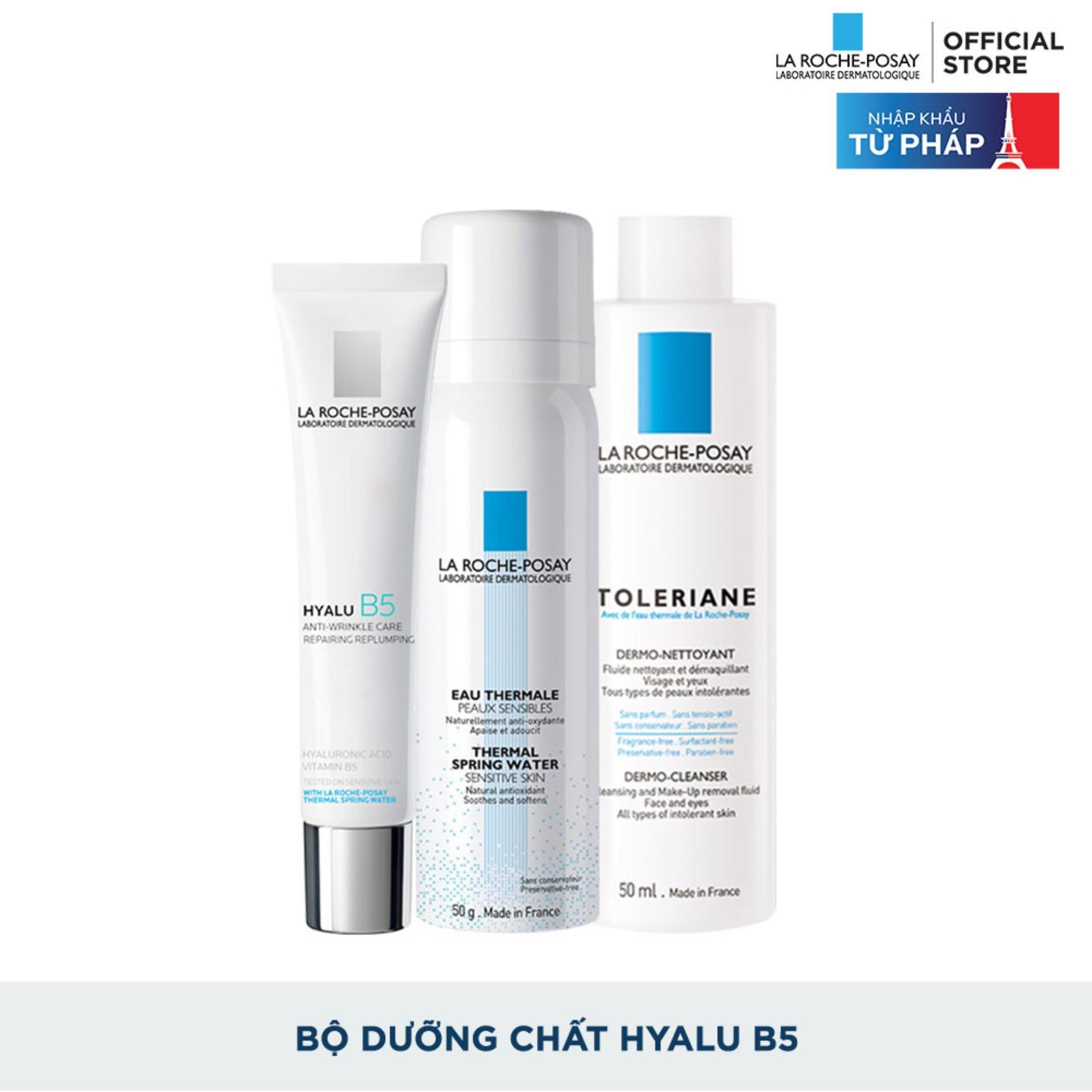 Bộ sản phẩm kem dưỡng da hỗ trợ quá trình tái tạo da, giúp da săn chắc và đàn hồi hơn La Roche Posay Hyalu B5 cream tốt nhất