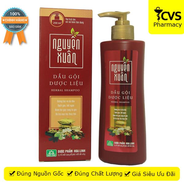 Dầu gội dược liệu Nguyên Xuân Đỏ chai 250ml - giảm ngứa, gàu, giúp tóc khỏe, mềm mại, giảm tóc gãy rụng - cvspharmacy giá rẻ