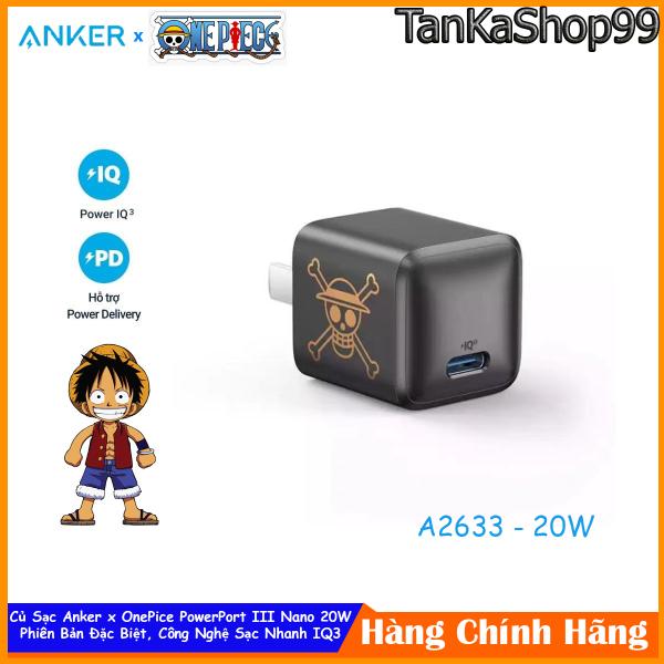 Củ Sạc ANKER x OnePice PowerPort III Nano 20W - A2633 Sạc Nhanh lphone 12 Series PD + QC 3.0
