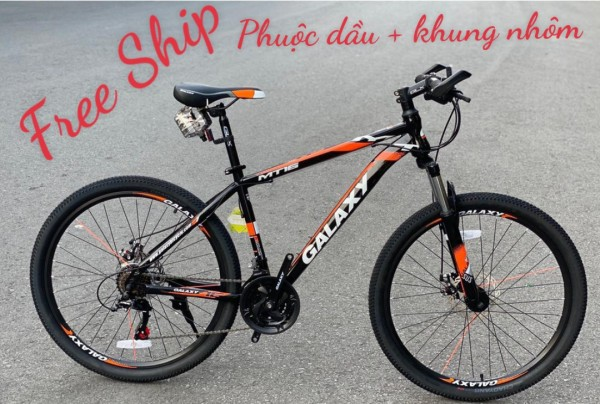 Mua xe đạp địa hình - có VIDEO chính hãng galaxy KHUNG NHÔM - size 26- xe đạp thể thao người lớn - xe đạp địa hình mẫu mới- cho người 1m5 trở lên - xe đạp - XE ĐẠP địa hình người lớn - sport bicycle - bike -Mountain bike