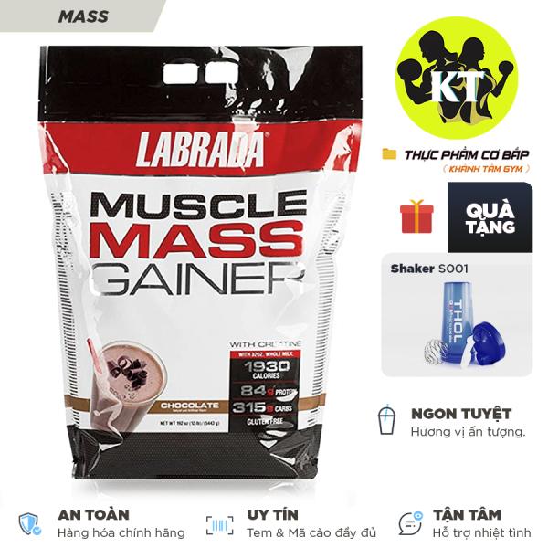 Sữa tăng cân tăng cơ Muscle Mass Gainer của Labrada 5.4 Kg Tặng kèm Bình lắc 600ml