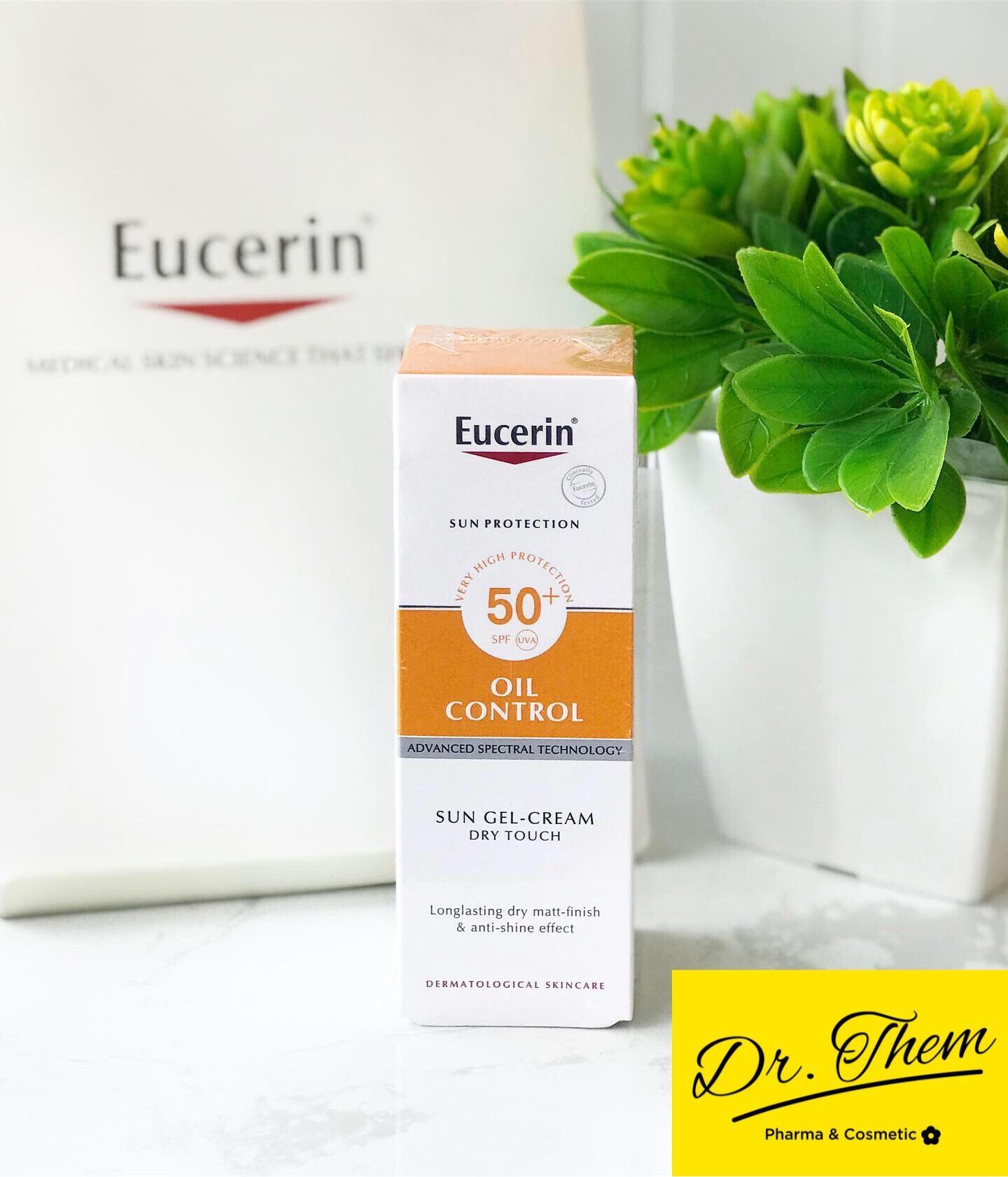 Kem Chống Nắng Eucerin Sun Gel Cream Oil Control SPF 50+ Cho Da Dầu Mụn nhập khẩu