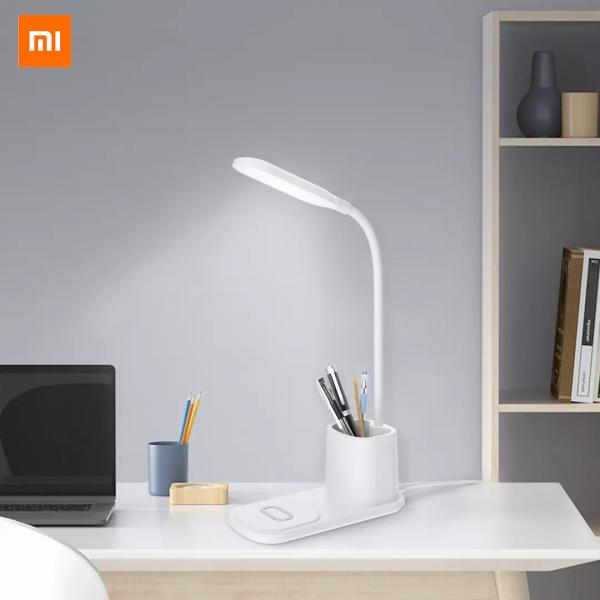 Xiaomi mijia youpin fsl xiaoyi multifuncional lâmpada de mesa de carregamento sem fio três-velocidade cor tonificação de carregamento sem fio