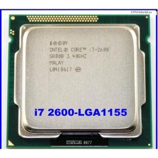Bộ vi xử lý cpu intel core i7 2600 socket 1155 sử dụng cho main h61, B75, Q67, Q77..... Bảo hành 3 tháng thumbnail