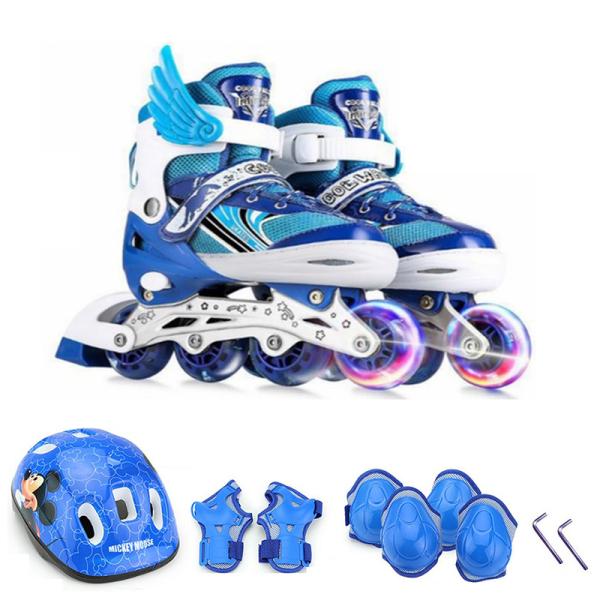 Mua Giày Trượt Patin Trẻ Em Sport Có Đèn Phát Sáng - Tặng Full Đồ Bảo Hộ Chân Tay