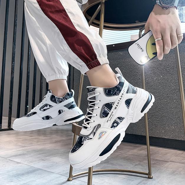 Giày thể thao nam Bruce phong cách Hàn Quốc phối màu siêu đẹp mẫu mới 2020 giá rẻ