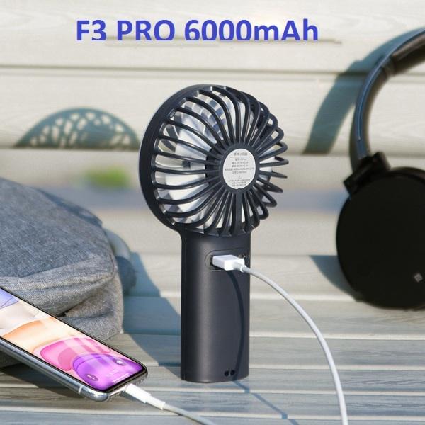 Quạt Cầm Tay Kiêm Sạc Dự Phòng Yoobao F3 Pro 6000mAh, quạt liên tục 32 giờ